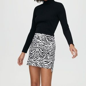 Aritzia Zebra Print Skirt
